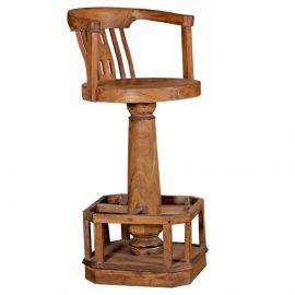 Handmade Wooden Bar Chair