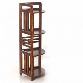 Triangular Wooden Corner Shelf