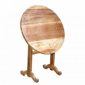 Foldable Wooden Round Table