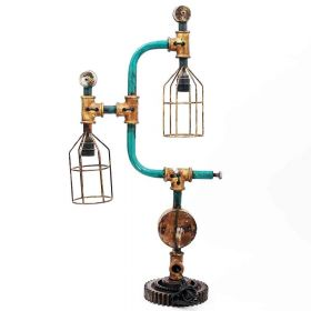 Artistic Real Meter and Pipe Iron Electric Lamp