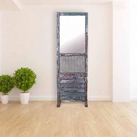 Antique Old Door Decorative Mirror Panel