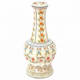 Ethnic Wood and Bone Flower Vase