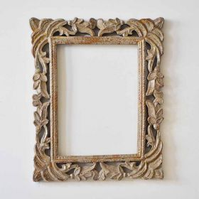 Rustic White Mango Wood Rectangular Frame