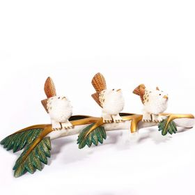 18 Carat Gold Plated Birds on Tree Branch Marble Showpiece