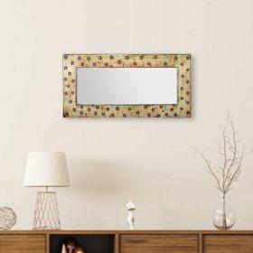 Floral Wooden Frame Mirror