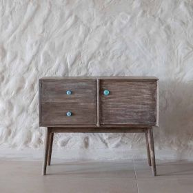 Grey Wooden Console