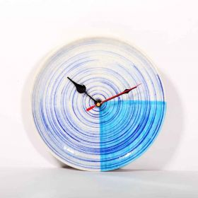 Blue Concentric Wall Clock