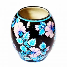 Susan Pink Lilies Pottery Vase