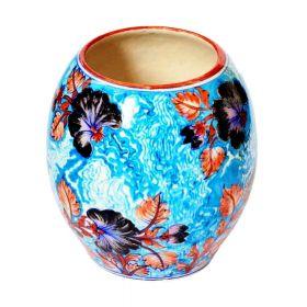Susan Black Lilies Pottery Vase