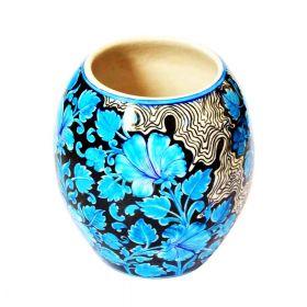 Susan Blue Lilies Pottery Vase