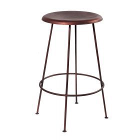 Bar Stool With Copper Finish Legs