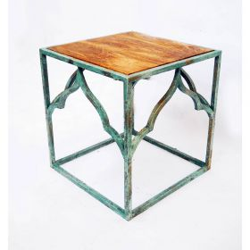 Ada Square Wooden Top Side Table