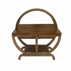 Zain Wooden Top Side Table