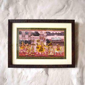 Maharaja Procession Miniature Painting