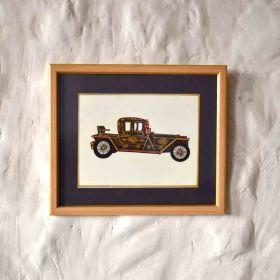 Cabriolet Vintage Car Painting