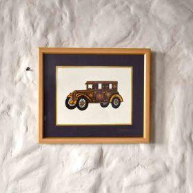 Electric Brougham Vintage Car Painting