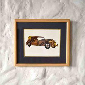 Sedan Vintage Car Painting