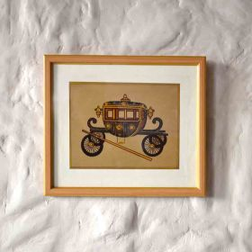 Medieval Cart Acrylic Painting