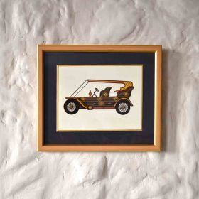 Vintage Vehicle Acrylic Painting
