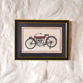 Motorized Cycle Acrylic Painting