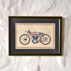 Vintage Motorized Cycle Painting