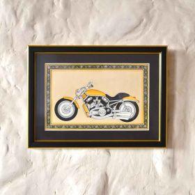 Yellow Vintage Motorbike Painting