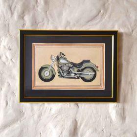 Olive Vintage Motorbike Painting