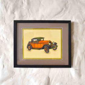 Orange Vintage Car Painting