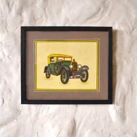 Green Vintage Car Painting