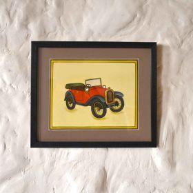 Red Vintage Car Painting