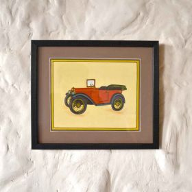 Open Vintage Car Painting