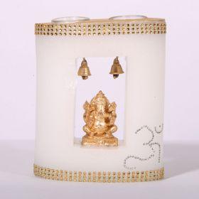 Ganesha Emblem Wax Candle Holder