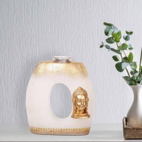 Buddha Emblem Wax Candle Holder