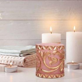 Golden Rose Emblem Wax Candle Holder
