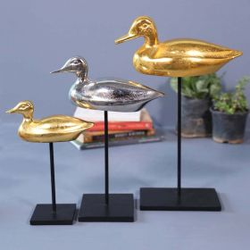Golden Duck Tabletop Sculpture