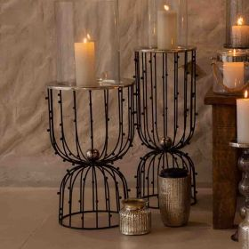 Naomi Black Wire Candle Holder