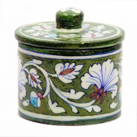 Azalea- Green Blue Pottery Container