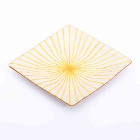 Lily- Yellow Rectangular Blue Pottery Soap Dish