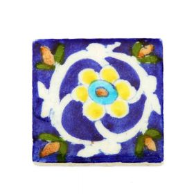 Zinnia- Cobalt Blue Traditional Blue Pottery Tile
