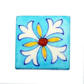 Zinnia- Sky Blue Traditional Blue Pottery Tile