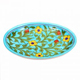Lavender- Sky Blue Round Blue Pottery Plate