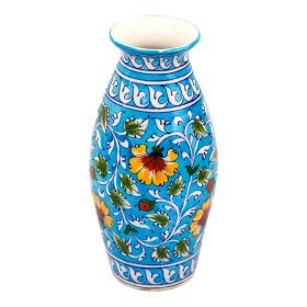 Petunia- Traditional Blue Pottery Vase