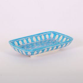 Lavender- Rectangle Blue Pottery Tray