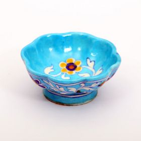 Daisy- Sky Blue Floral Blue Pottery Bowl