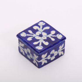 Daffodil- Blue Pottery Decorative Box
