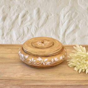 Beige Handi Wooden Bowl