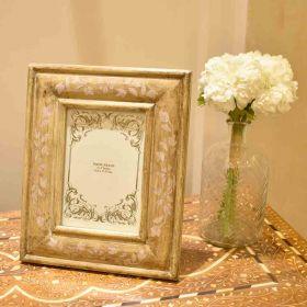 Beige Wooden Photo Frame