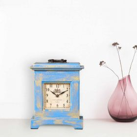 Blue Antique Table Clock