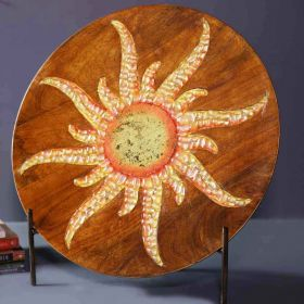 Wooden Sun Platter Showpiece