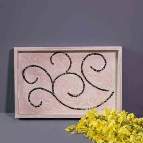 Mosaic Work Wooden Tray